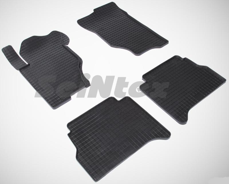SeinTex 00130 для Kia Sorento (2002-н.в.)KIA<br>типа сетка - изготовление из специальной резины, не имеют запаха, идеальное повторение контуров салона, морозостойкость, гарантия - 3 года. На данные коврики нанесен узор сетка, который помогает удерживать пыль, грязь, воду. Коврики выполнены из высококачественных материалов, которые обеспечивают высокую износостойкость и долговечность аксессуаров. Содержание синтетического каучука равно 40 процентам, а остальные 60 - это специальные добавки, предназначенные для повышения прочности, эластичности и устойчивости к внешним воздействиям. Использование специальных импортных компонентов позволило избежать наличия неприятного запаха. Материал, из которого изготовлены аксессуары, имеет неоспоримые преимущества перед полиуретаном, который является более бюджетным материалом и резиной, имеющей неприятный запах. Коврики предельно просты в эксплуатации и уходе. Специальный дизайн ковриков позволяет им идеально подходить под контуры пола автомобиля.<br>