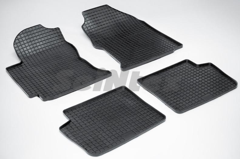 SeinTex 00233 для Toyota Corolla (E12) (2001-200Toyota<br>7 типа сетка - изготовление из специальной резины, не имеют запаха, идеальное повторение контуров салона, морозостойкость, гарантия - 3 года. На данные коврики нанесен узор сетка, который помогает удерживать пыль, грязь, воду. Коврики выполнены из высококачественных материалов, которые обеспечивают высокую износостойкость и долговечность аксессуаров. Содержание синтетического каучука равно 40 процентам, а остальные 60 - это специальные добавки, предназначенные для повышения прочности, эластичности и устойчивости к внешним воздействиям. Использование специальных импортных компонентов позволило избежать наличия неприятного запаха. Материал, из которого изготовлены аксессуары, имеет неоспоримые преимущества перед полиуретаном, который является более бюджетным материалом и резиной, имеющей неприятный запах. Коврики предельно просты в эксплуатации и уходе. Специальный дизайн ковриков позволяет им идеально подходить под контуры пола автомобиля.<br>
