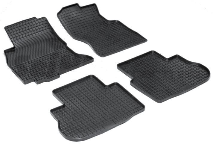 SeinTex 00711 для Infiniti FX35, FX45 (2007-н.в.Infiniti<br>типа сетка - изготовление из специальной резины, не имеют запаха, идеальное повторение контуров салона, морозостойкость, гарантия - 3 года. На данные коврики нанесен узор сетка, который помогает удерживать пыль, грязь, воду. Коврики выполнены из высококачественных материалов, которые обеспечивают высокую износостойкость и долговечность аксессуаров. Содержание синтетического каучука равно 40 процентам, а остальные 60 - это специальные добавки, предназначенные для повышения прочности, эластичности и устойчивости к внешним воздействиям. Использование специальных импортных компонентов позволило избежать наличия неприятного запаха. Материал, из которого изготовлены аксессуары, имеет неоспоримые преимущества перед полиуретаном, который является более бюджетным материалом и резиной, имеющей неприятный запах. Коврики предельно просты в эксплуатации и уходе. Специальный дизайн ковриков позволяет им идеально подходить под контуры пола автомобиля.<br>