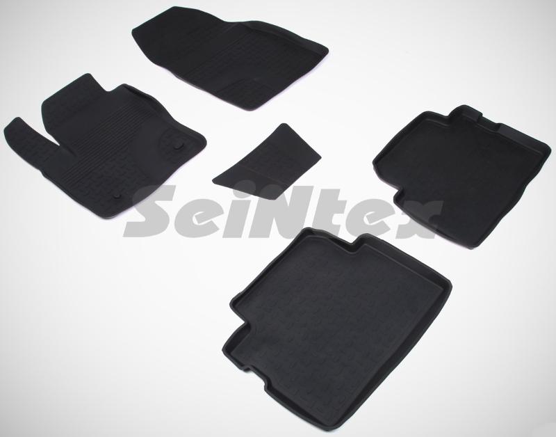 SeinTex 01320 для Ford C-Max (2003-н.в.), Ford KFord<br>. Рассматриваемые нами коврики оснащены высоким бортом, благодаря чему способны удерживать большое количество влаги и загрязнений, не позволяя ей распространяться по напольному покрытию. Отличительная особенность ковриков Seintex - это изготовление из высококачественных материалов, которые отличаются высокой износостойкостью, эластичностью. Кроме этого, данные коврики не имеют запаха и безопасны для аллергиков. Отличное сцепление с поверхностью обеспечивают шипы, расположенные на обратной стороне автоковриков. Высокое качество продукции и уверенность в долгой службе аксессуара компания-производитель подтверждает 3-летней гарантией.<br>