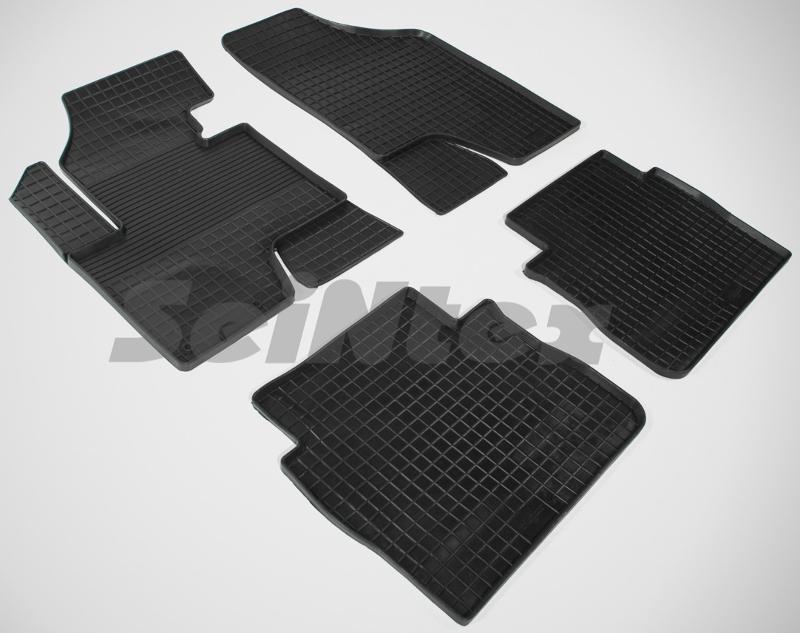 SeinTex 82015 для Hyundai Santa Fe II New (2010-Hyundai<br>н.в. типа сетка - изготовление из специальной резины, не имеют запаха, идеальное повторение контуров салона, морозостойкость, гарантия - 3 года. На данные коврики нанесен узор сетка, который помогает удерживать пыль, грязь, воду. Коврики выполнены из высококачественных материалов, которые обеспечивают высокую износостойкость и долговечность аксессуаров. Содержание синтетического каучука равно 40 процентам, а остальные 60 - это специальные добавки, предназначенные для повышения прочности, эластичности и устойчивости к внешним воздействиям. Использование специальных импортных компонентов позволило избежать наличия неприятного запаха. Материал, из которого изготовлены аксессуары, имеет неоспоримые преимущества перед полиуретаном, который является более бюджетным материалом и резиной, имеющей неприятный запах. Коврики предельно просты в эксплуатации и уходе. Специальный дизайн ковриков позволяет им идеально подходить под контуры пола автомобиля.<br>