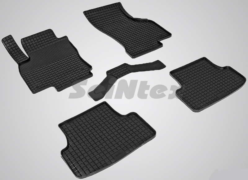 SeinTex 84027 для Audi A3 (2012 - н.в.), VolkswaAudi<br>gen Golf VII 2012-н.в. типа сетка - изготовление из специальной резины, не имеют запаха, идеальное повторение контуров салона, морозостойкость, гарантия - 3 года. На данные коврики нанесен узор сетка, который помогает удерживать пыль, грязь, воду. Коврики выполнены из высококачественных материалов, которые обеспечивают высокую износостойкость и долговечность аксессуаров. Содержание синтетического каучука равно 40 процентам, а остальные 60 - это специальные добавки, предназначенные для повышения прочности, эластичности и устойчивости к внешним воздействиям. Использование специальных импортных компонентов позволило избежать наличия неприятного запаха. Материал, из которого изготовлены аксессуары, имеет неоспоримые преимущества перед полиуретаном, который является более бюджетным материалом и резиной, имеющей неприятный запах. Коврики предельно просты в эксплуатации и уходе. Специальный дизайн ковриков позволяет им идеально подходить под контуры пола автомобиля.<br>