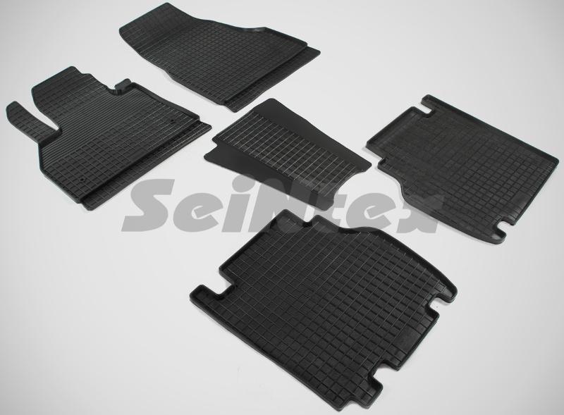 SeinTex 85735 для Renault Kangoo (2008-н.в.)Renault<br>типа сетка - изготовление из специальной резины, не имеют запаха, идеальное повторение контуров салона, морозостойкость, гарантия - 3 года. На данные коврики нанесен узор сетка, который помогает удерживать пыль, грязь, воду. Коврики выполнены из высококачественных материалов, которые обеспечивают высокую износостойкость и долговечность аксессуаров. Содержание синтетического каучука равно 40 процентам, а остальные 60 - это специальные добавки, предназначенные для повышения прочности, эластичности и устойчивости к внешним воздействиям. Использование специальных импортных компонентов позволило избежать наличия неприятного запаха. Материал, из которого изготовлены аксессуары, имеет неоспоримые преимущества перед полиуретаном, который является более бюджетным материалом и резиной, имеющей неприятный запах. Коврики предельно просты в эксплуатации и уходе. Специальный дизайн ковриков позволяет им идеально подходить под контуры пола автомобиля.<br>