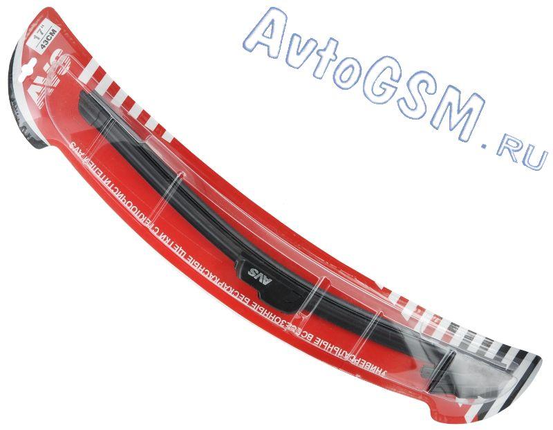 AVS Basic Line 17 дюймов (43 см)Щетки стеклоочистителя<br>- аэродинамическая конструкция, графитовое напыление, всесезонность использования, бесшумная работа, низкий уровень вибрации, широкий диапазон рабочих температур. Щетка стеклоочистителя AVS Basic Line 17 дюймов (43 см) выполнена в бескаркасном корпусе и наделена аэродинамическими свойствами. Резиновые элементы этого аксессуара имеют напыление на основе графита. Изделие может использоваться в любое время года в широком диапазоне температур.<br>