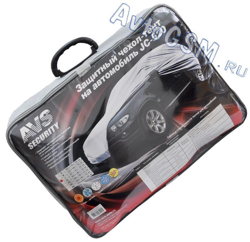AVS JC-520 LТенты-чехлы для автомобиля<br>для компактного кроссовера - водонепроницаемость, резинка для фиксации, застежка-молния со стороны двери водителя, изготовлен из полиэстера. Чехол-тент AVS Security JC-520 L главным образом необходим для защиты кузова Вашего транспортного средства от ультрафиолета, дождя, снега, грязи и пыли и <br>других негативных воздействий окружающей среды. Данный чехол имеет большой размер - 457х185х145 см и подходит для компактных кроссоверов, например, <br>для Jeep Liberty, Honda CR-V, Toyota RAV4, Kia Sportage.<br>