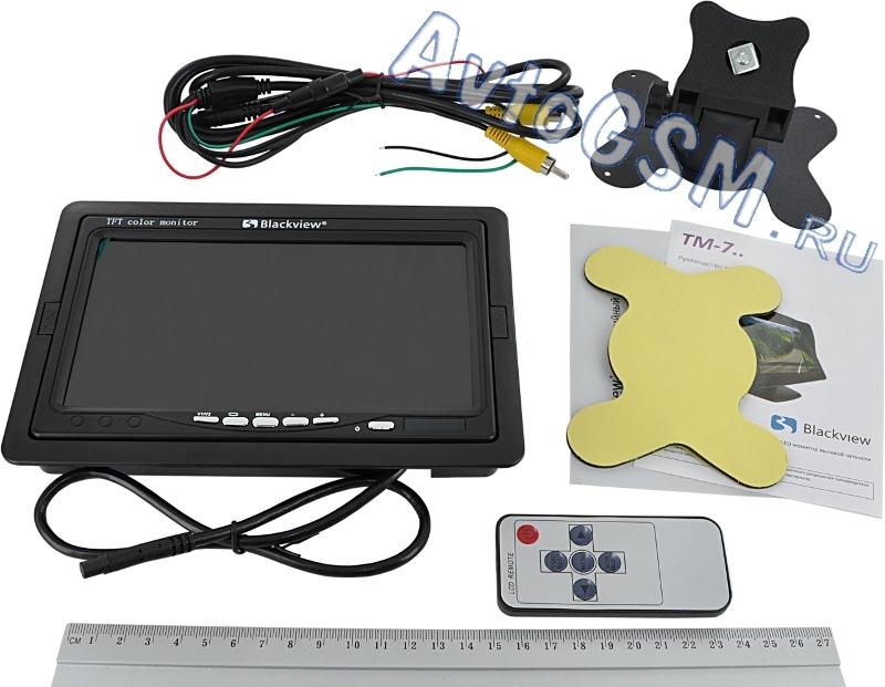 Blackview TM-701Универсальные<br>- дисплей 7 дюймов, антибликовое покрытие, несколько способов монтажа. Данный монитор имеет довольно большой дисплей - 7 дюймов.  Антибликовое покрытие предотвращает дискомфорт от использования в солнечные дни. Благодаря особой конструкции, Вы можете произвести  монтаж в удобное для Вас место, в зависимости от целей использования монитора - на приборную панель, в подголовник или любую  подготовленную для этого нишу. Можно использовать Blackview TM-701 в качестве центра мультимедийной или парковочной системы, при этом данные задачи могут быть  выполнены одновременно. Следует отметить функцию автоматического включения управляемого входа камеры, которая позволит оперативно  получить изображение и осуществить удачную парковку.<br>