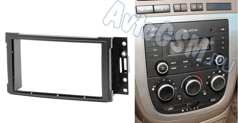 CARAV 11-2302DIN<br>для  Buick GL8 2005+. Использование переходной рамки - это отличный способ органично интегрировать в интерьер стандартную автомагнитолу. Так, рамка Carav 11-230 поможет установить магнитолу размера 2DIN вместо штатного ГУ в автомобиль   Buick GL8 2005+.<br>
