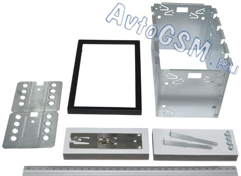 CARAV 14-0042DIN<br>универсальная. Carav 14-004 - это универсальная автомобильная монтажная рамка, позволяющая установить магнитолу размера 2-DIN вместо штатного головного устройства. Габаритные размеры пластиковой рамки равны примерно 19 (Д) х 11.8 (В) х 1 (Г) см.<br>