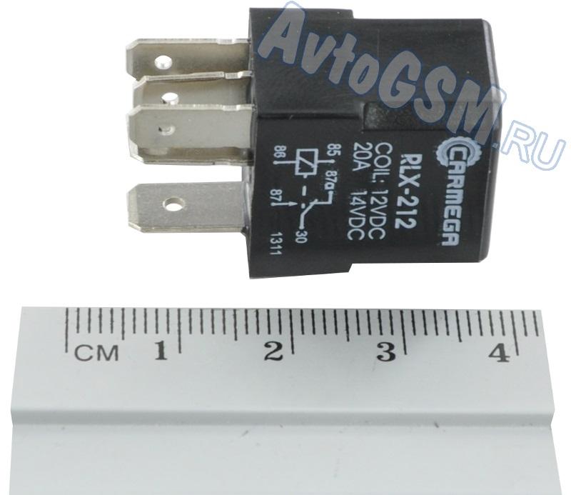 CARMEGA RLX-212Датчики и комплектующие<br>- миниатюрный корпус, напряжение 12V Внимание!!!! Распродажа. Carmega RLX-212 - это пятиконтактное реле, выполненное в миниатюрном корпусе. Габариты реле составляют всего 21х15х33 мм. На корпусе изображена схема подключения.<br>