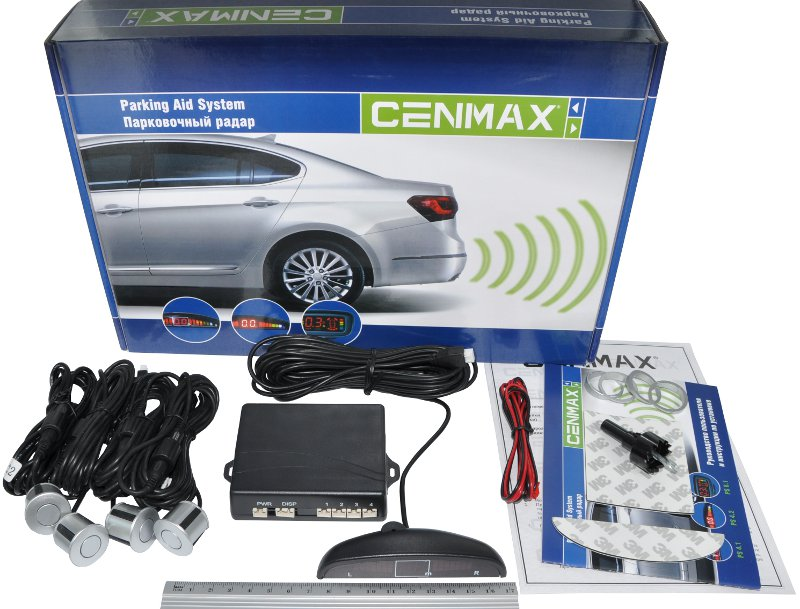 Cenmax PS-4.1 silverПарктроники для заднего бампера<br>. Cenmax PS 4.1 является современной парковочной системой, которая не перегружена большим количеством дополнительныx функций, за счет чего имеет привлекательную стоимость. Данный парктроник отличается удобством в эксплуатации, оснащен компактным индикатором и имеет многотональное звуковое оповещение, которое обеспечивает получение информации в доступном формате.<br>