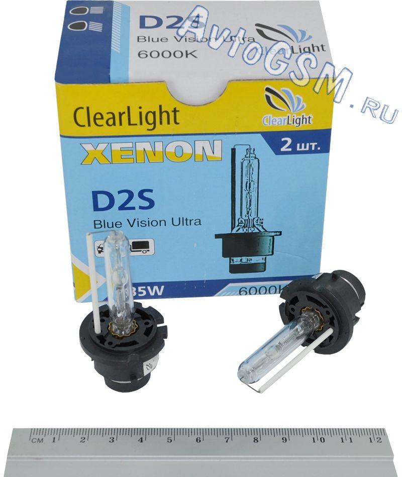 MaxLum D2S 6000D2S<br>K - белый свет с синим оттенком, вибрационная стойкость, долговечность. Лампы  Clearligh D2S 6000K излучают белый свет с насыщенным синим оттенком. Свет этих ламп не только отличается высокой яркостью, но и необычным внешним видом. Автомобиль с лампами Clearligh D2S 6000K наверняка сможет выделиться среди транспортных средств с традиционным галогенным светом. Синий оттенок свечения способен придать любому автомобилю современный вид.<br>