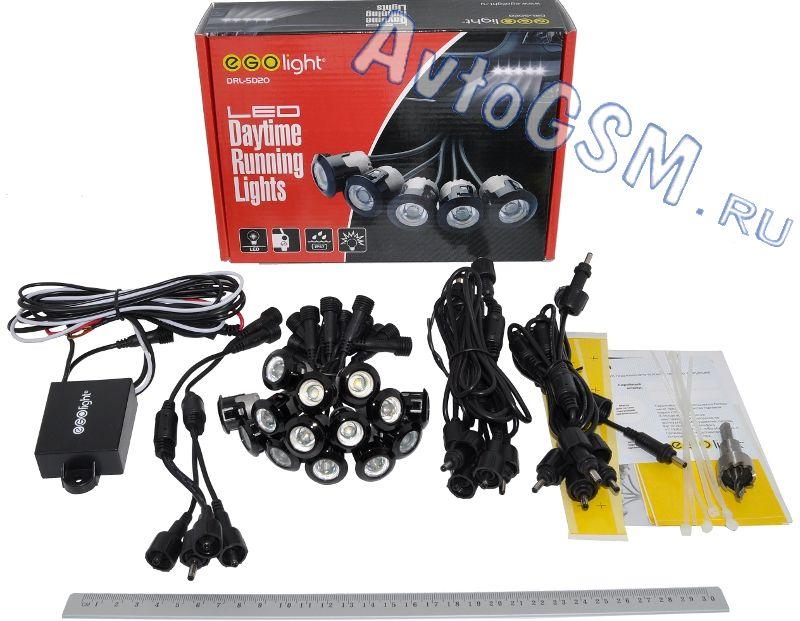EGO Light DRL-5D24ДХО на 12-24B<br>- отдельные светодиодные элементы, герметичный корпус, универсальная установка, автоматическое включение. Ego Light DRL-5D24 - это современные ходовые огни, оригинальный дизайн которых позволит реализовать Ваши дизайнерские идеи и  придать неповторимый внешний вид автомобилю. Данные ходовые огни выполнены  в виде отдельных светодиодных элементов, что позволяет реализовать различные варианты их расположения.<br>