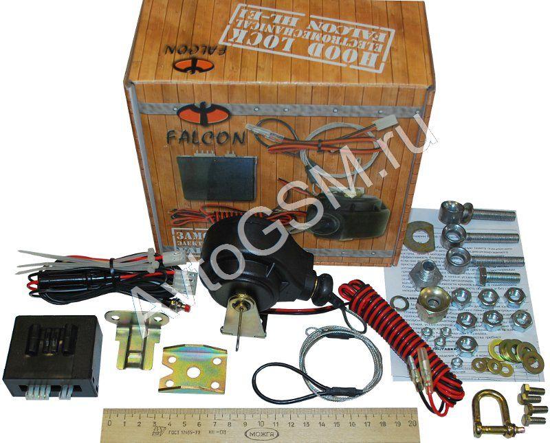 Falcon HL-E1Универсальные замки капота<br>с таймером открытого состояния в комплекте. Falcon  HL-E1 -  устройство, которое  позволяет обеспечить надежную защиту подкапотного пространства автомобиля от  несанкционированного проникновения.  Защита моторного отсека позволяет значительно повысить эффективность блокировок двигателя охранной системы, если они реализованы в моторном отсеке.<br>