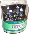 Комплект галогенных ламп MTF Light Titanium HB4 55W