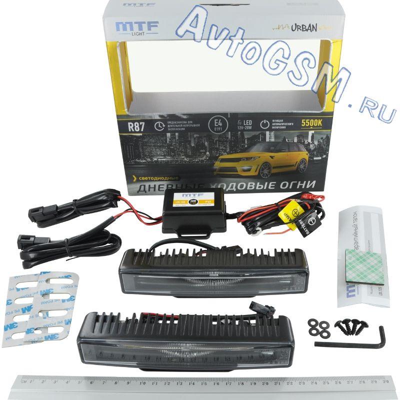 MTF Light URBANДХО на 12B<br>LDL180 5500K - функция автоматического включения, повышенная влагозащита, соответствие евростандартам, вибростойкость, равномерное распределение света, долгий срок службы, яркость - 2 х 300 Лм. MTF Light Urban LDL180 - это современные ходовые огни, которые оснащены усовершенствованными светодиодными модулями. Специальная рассеивающая линза позволяет получать равномерный свет по всей поверхности фары. Белый цвет свечения (5500K) и высокая яркость (2х300Lm) несомненно привлекут внимание других участников движения. ДХО способны автоматически включаться при запуске двигателя и выключаться при начале работы ближнего света. Высокое качество комплектующих и соответствие евростандартам гарантируют долгую службу оборудования.<br>