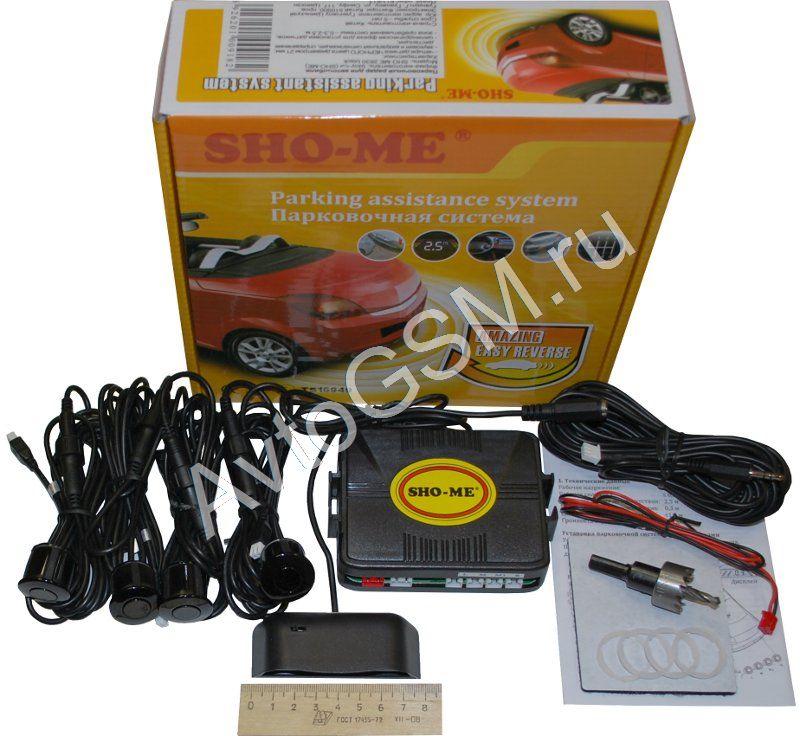 Sho-me 2630 (4 черных датчика)Парктроники для заднего бампера<br>. Sho-me 2630 - новый парковочный радар, который отличается хорошими техническими характеристиками и демократичной ценой. Парктроник оснащен четырьмя черными сенсорными датчиками и компактным  индикатором.<br>