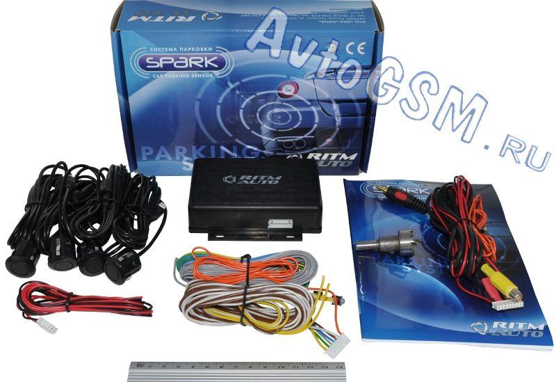 SPARK 4-V-bzПарктроники для заднего бампера<br>с функцией контроля слепых зон Внимание!!!!Светодиодная лампа EVO Formance Elite 93345 White  в комплекте !!!  11 цветов датчиков на выбор - 4 задних датчика, диапазон точного обнаружения 16 см-2.5 м, время реакции системы 0.06-0.1. Парктроник Спарк (Spark) 4-V-bz реализует функцию звукового оповещения о наличии позади автомобиля препятствий для движения. Помимо этого, данная система предупреждает водителя о присутствии посторонних объектов в слепых зонах около транспортного средства. Парковочный радар комплектуется 4 датчиками для установки в задний бампер машины, а также блоком управления, индикаторами, биппером и необходимыми кабелями.<br>